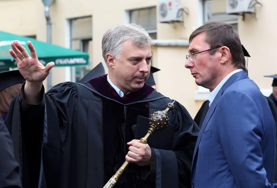 Разом з Юрієм Луценком, серпень 2013