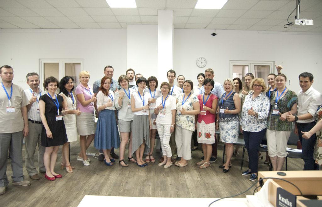 учасники Літньої школи «Профі+» для викладачів НаУКМА (червень 2017 р.)